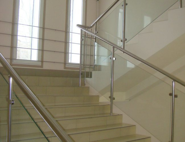 Stainless Steel  Railing Glass  Staricase