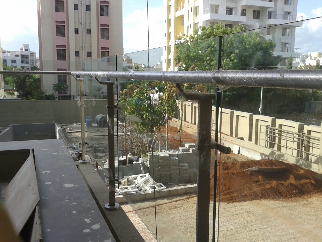 Stainless Steel Balcony Glass Railing